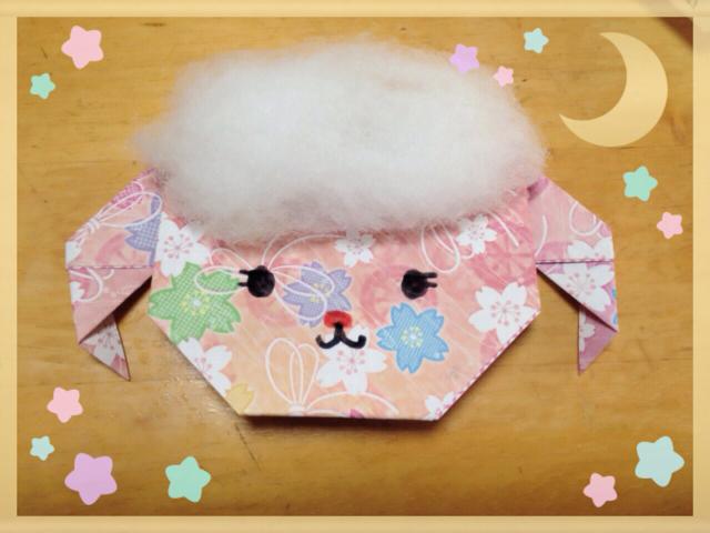簡単 折り紙 : 羊の折り紙 : sumireco.seesaa.net